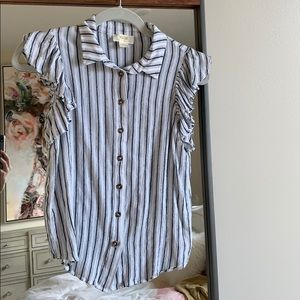Maeve collared button down shirt